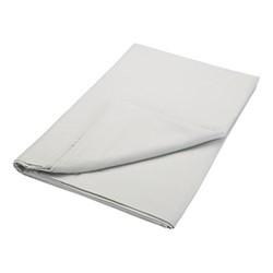 200TC Plain Dye Super king size flat sheet, L260 x W315cm, silver