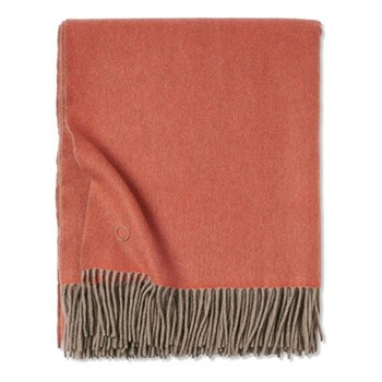 Uno Throw, 200 x 145cm, orange/taupe