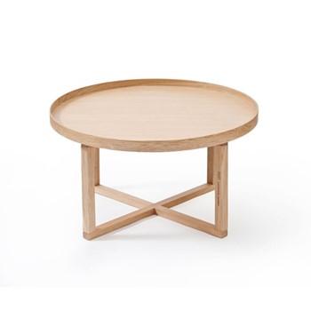 Coffee table, H38 x W66 x D66cm, oak
