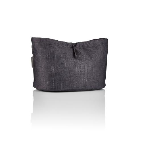 Essentials pouch, Graphite black, H20 x W32 x L20cm, Black
