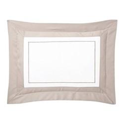 Lutece King size pillowcase, 50 x 90cm, pierre