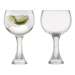 Manhattan Pair of gin glasses, W15 x H20cm, clear