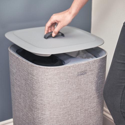 Tota Easy-Empty Laundry Basket 60 Litre Grey