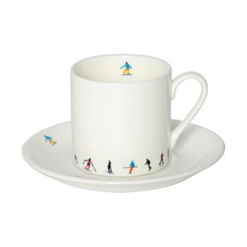 Ski Chain Espresso cup & saucer, muti