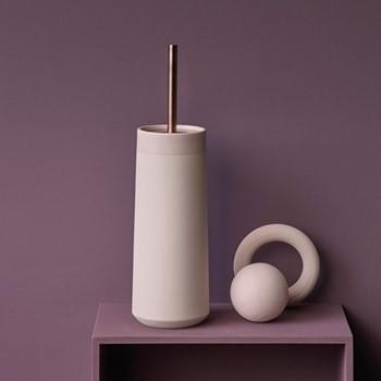 Opaco Toilet brush holder, 10.5 x 39cm, sorbet