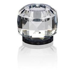 Texas T-light holder, L9 x H7.8 x D9cm, clear/black