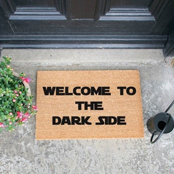 Welcome To The Dark Side Doormat , L60 x W40 x H1.5cm