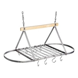 Industrial Kitchen Ceiling mounted pot rack, 81 x 40 x 33cm