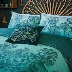 Dill Single duvet cover, L200 x W140cm, aqua