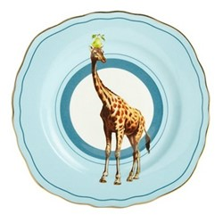 Giraffe Set of 6 cake plates, 16cm