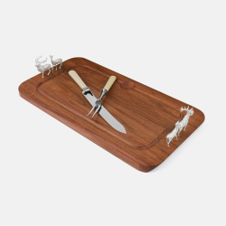 The Highland Safari Collection Carving board, L50 x W29 x D7.5cm, red deer