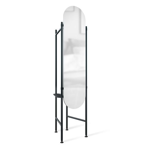 Vala Floor mirror, 180 x 119 x 11cm, black