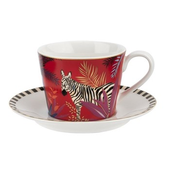 Tahiti - Zebra Teacup & saucer