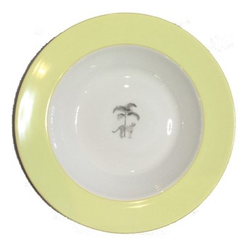 Harlequin - Yellow Cheetah Soup bowl, 22cm, yellow