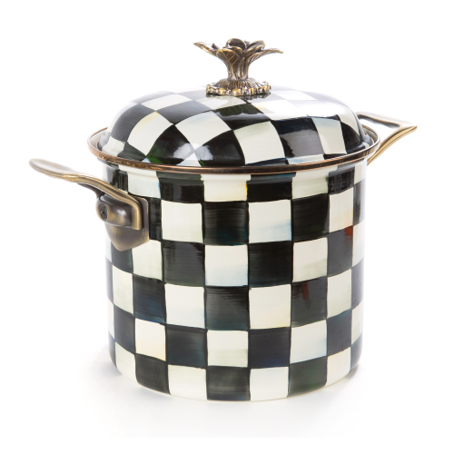 Courtly Check Stockpot, 8L, enamel