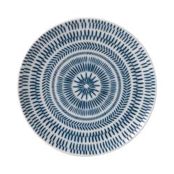 Ellen DeGeneres - Dark Blue Chevron Side plate, 21cm