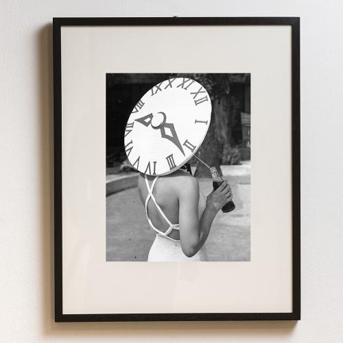 Sundial Hat Framed photograph, H71 x W61cm