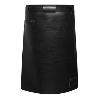 Waist Down Collection Long apron, H60 x W62cm, pure black