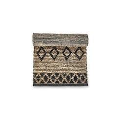Ambara Small jute rug, 120 x 180cm, black & natural