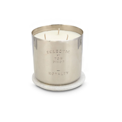 Royalty Large 3 wick scented candle, D9.5 x H9.2cm, Nickel