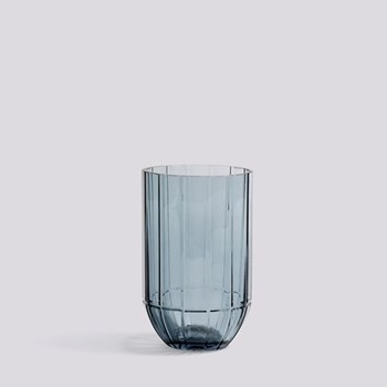 Colour Medium glass vase, H15 x W9.5cm, blue