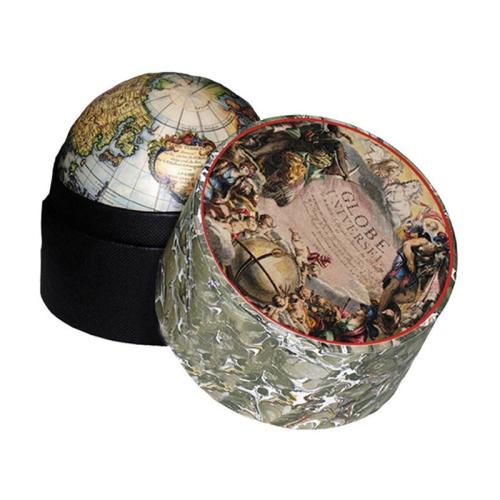 Vaugondy 1745 Globe in a box, H9 x D8.5cm