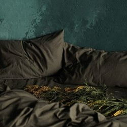 Pair of pillowcases, 50 x 75cm, olive grey