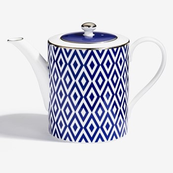 Aragon Teapot, H15 x D11cm, midnight blue & white