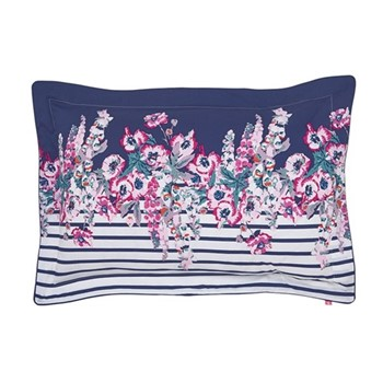 Cottage Garden Border Stripe Oxford comet pillowcase, L48 x W74cm, blue