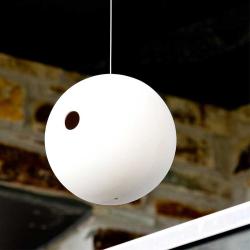 Birdball Suspended birdhouse, Dia18cm, White