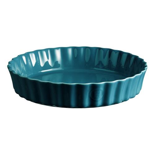 Calanque Set of 3 large tart dishes, L33.5 x W33.5cm - 200cl, Blue