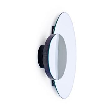 Eclipse Wall mirror, H45 x W55 x D10cm, dark brown/mirrored glass