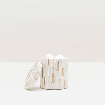 Cortona Round canister, H11.5 x D10cm, white