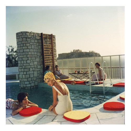 Slim Aarons - Penthouse Pool Framed photograph, H61 x W61cm