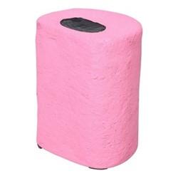Pick 'n' Mix Round sweet stool, H40 x W31 x D25cm, pink/black