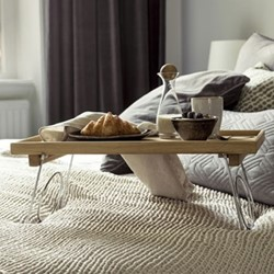 Nature Bed tray with folding legs, 50x 30 x 24.5cm, oak
