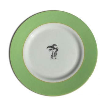 Harlequin - Green Giraffe Dinner plate, D26cm, green