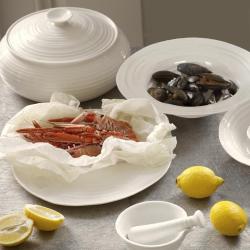 Ceramics Casserole low, 3.4 litre, White