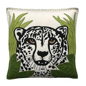 Cheetah Cushion, 46 x 46cm, cream