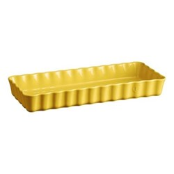 Provence Pair of narrow tart dishes, L39.5 x W34cm - 160cl, yellow