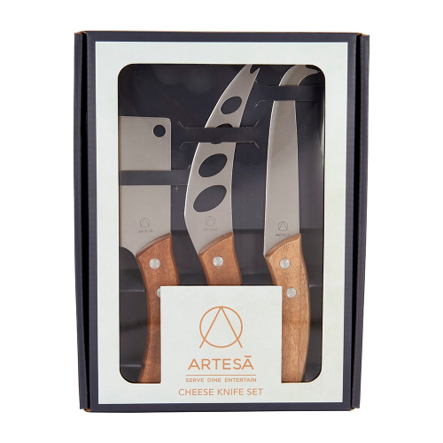 Cheese knife set, 32/32/22cm, Acacia Wood/Stainless Steel