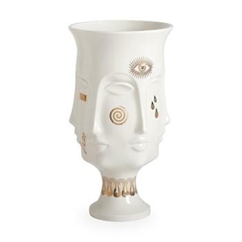 Gilded Muse Dora maar urn, Dia20.32 x H38.1cm, white/metallic gold