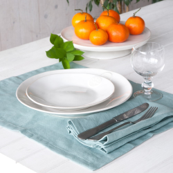 Porto Pair of place mats, 37 x 47cm, turquoise