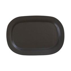 Sharing Large oval plate, 28 x 19.5cm, noir satine