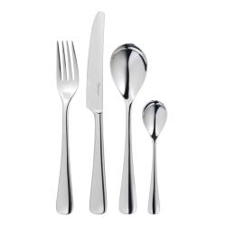 Malvern Bright 24 piece cutlery set, Stainless Steel