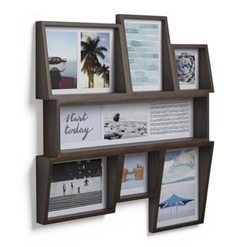 Edge Photo display, 26.2 x 21.2 x 7.2 cm, aged walnut