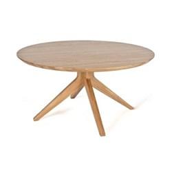Round oak dining table H75 x W150 x D150cm