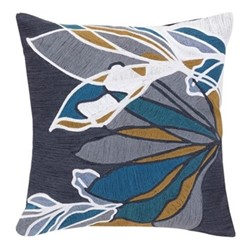 Finbarr Cushion, 45 x 45cm, midnight