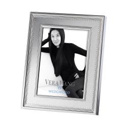 "Vera Wang - Grosgrain Photograph frame, 5 x 7"", silver plated"
