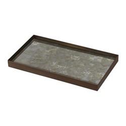Fossil Organic glass tray - medium, 31 x 17 x 3cm